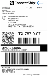 High Quality Example Of A Custom Document Which Adds A Company Logo To A Standard UPS  Shipping Label Within Package Label Template